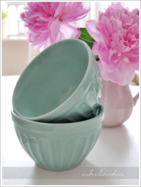 miętowe miseczki ceramiczne