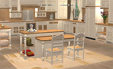 Country for the sims 2 sims design avenue campagne for Sims 3 kitchen designs