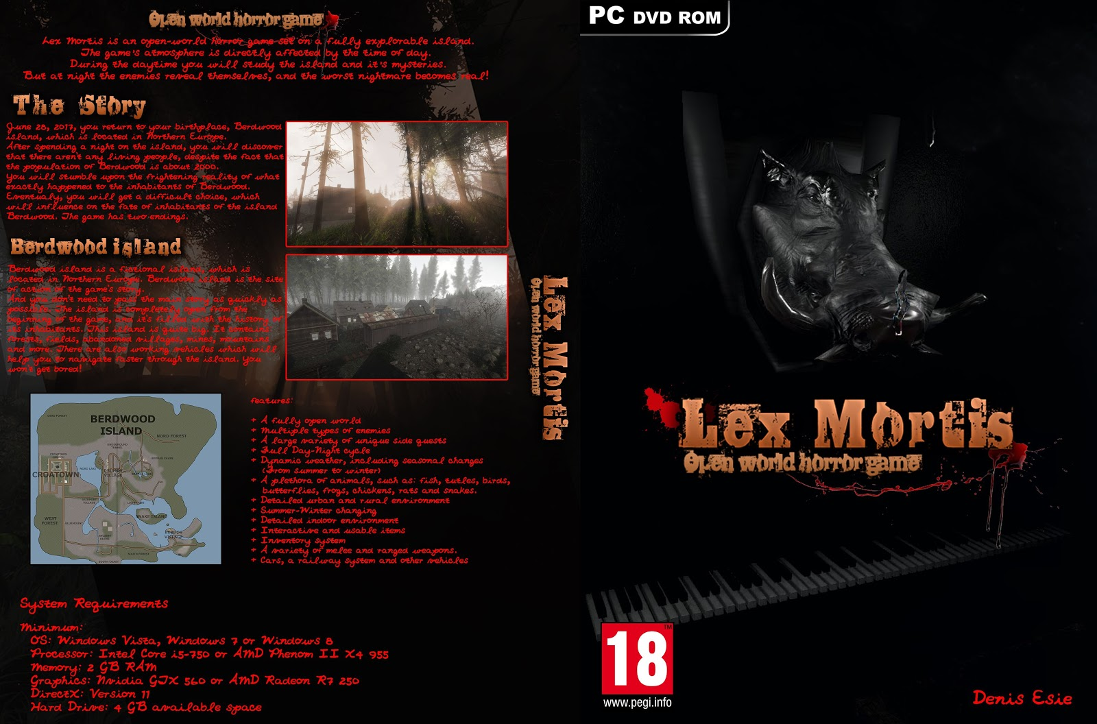 Capa Lex Mortis Open World Horror Game PC