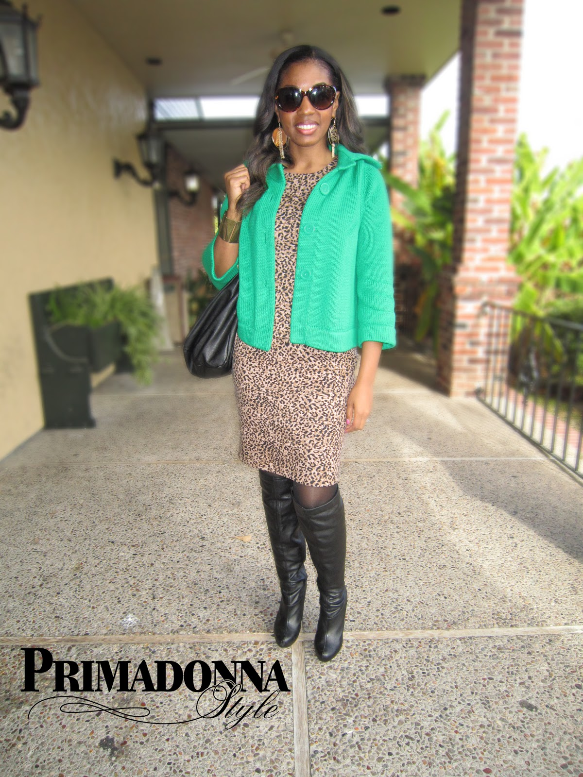 Primadonna Style: Out & About: Leopard Print and Green