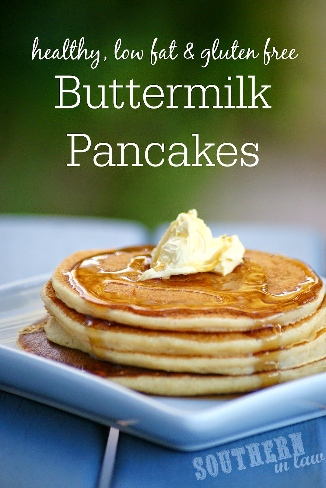 Healthy Buttermilk Pancakes Recipe - low fat, gluten free, healthy, refined sugar free, low sugar, clean eating friendly