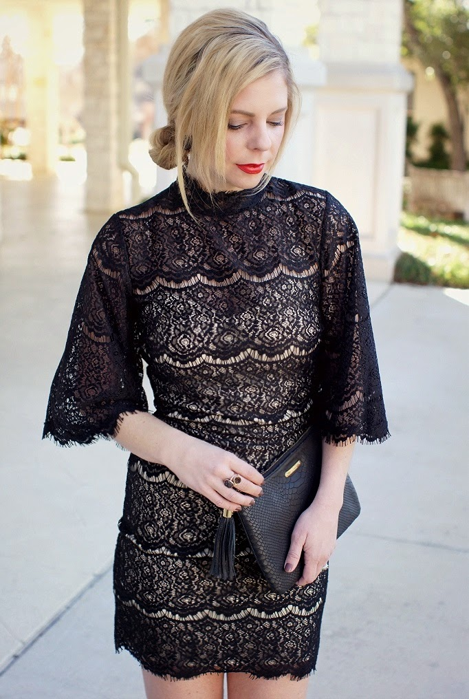 Lulus Balck Lace Dress