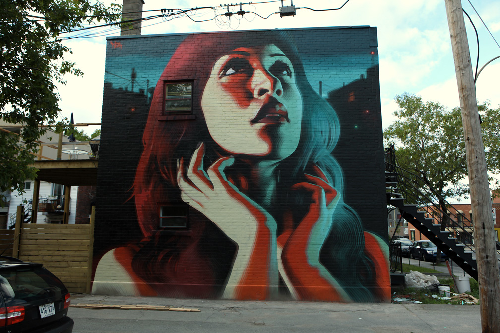 Mac art new mural in montr al spirit of summer l for Art mural montreal