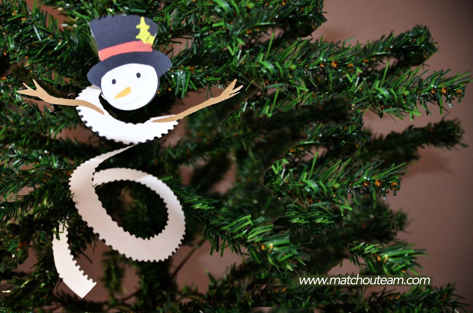 bonhomme de neige découpage pour noël