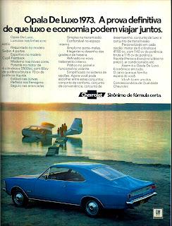 propaganda Opala de Luxo 73 - 1972; 1972; brazilian advertising cars in the 70s; os anos 70; história da década de 70; Brazil in the 70s; propaganda carros anos 70; Oswaldo Hernandez;