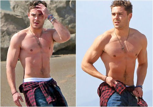 zac efron 2011 shirtless. This Zac Efron was recently