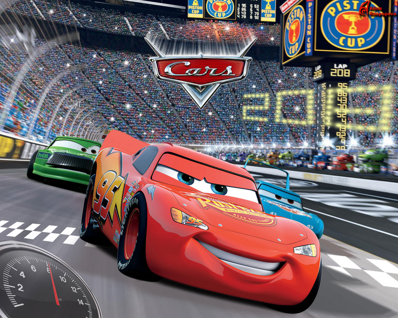 Walt disney cartoon cars mcqueen wallpaper