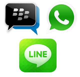 Perbandingan Aplikasi Chatting Android: BlackBerry Messenger, WhatsApp, dan Line