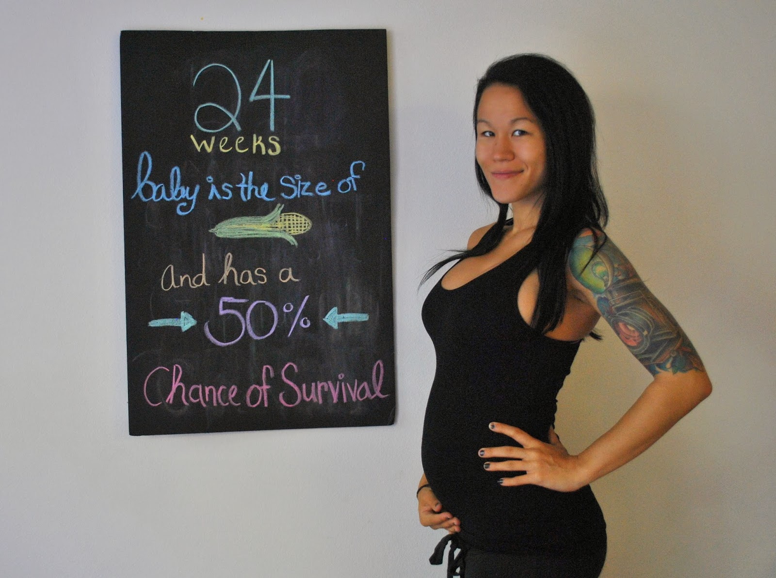 Diary of a Fit Mommy: 24 Weeks Pregnancy Chalkboard Update
