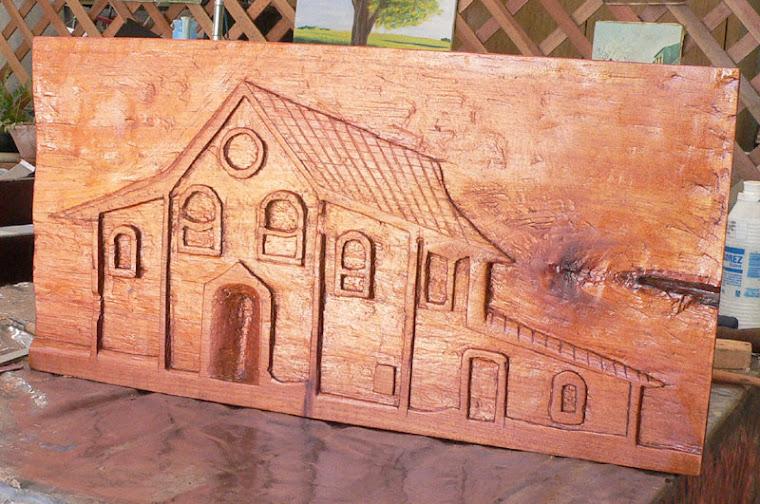 Casario do nosso Brasil - Entalhe em madeira