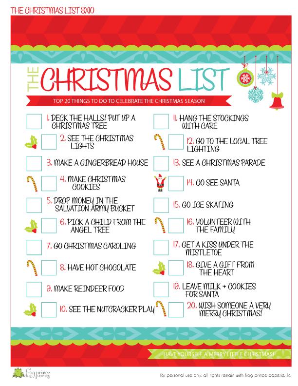 christmas list maker printable