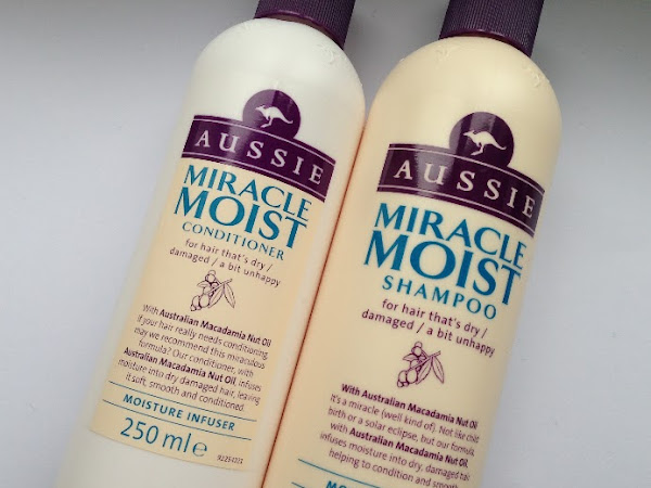 Aussie Miracle Moist shampoo & conditioner.