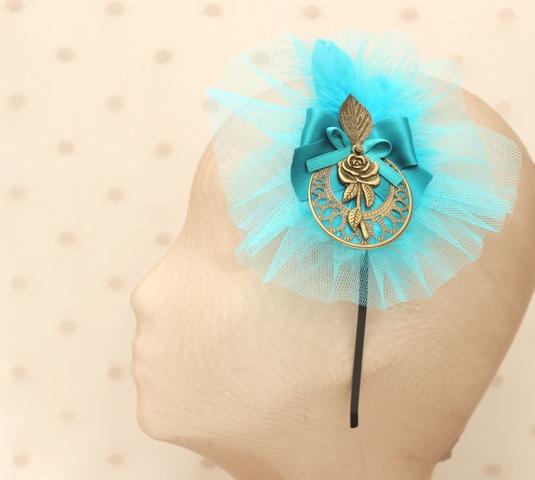 Colección Picnic - Diadema tocado Azul
