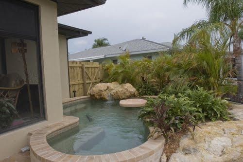 Kumpulan desain rumah berkebun desain kolam renang mini for Mini pool design