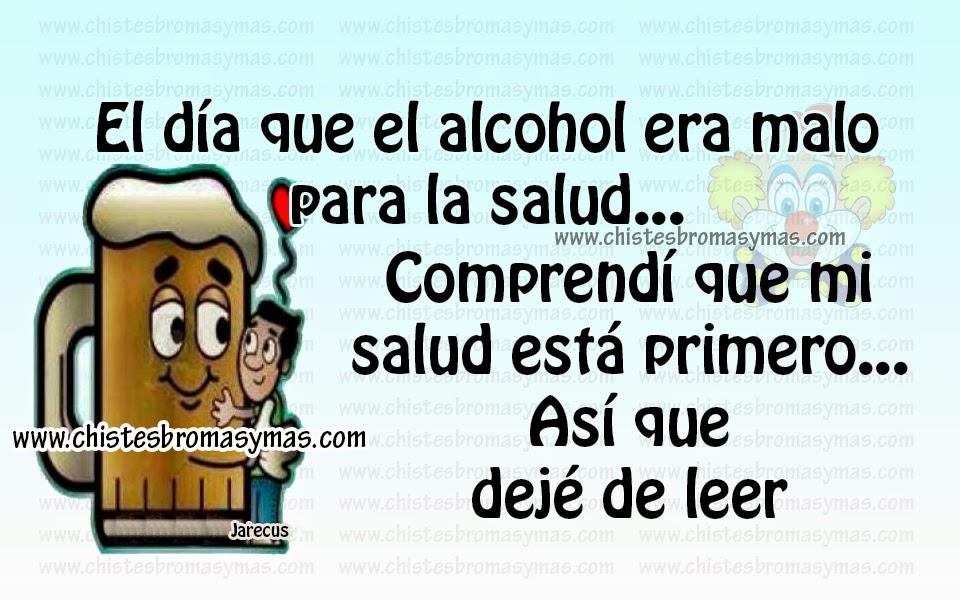 El día que el alcohol era malo para la salud.