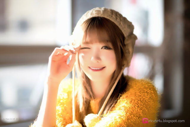 4 Lee Eun Hye in yellow - very cute asian girl-girlcute4u.blogspot.com