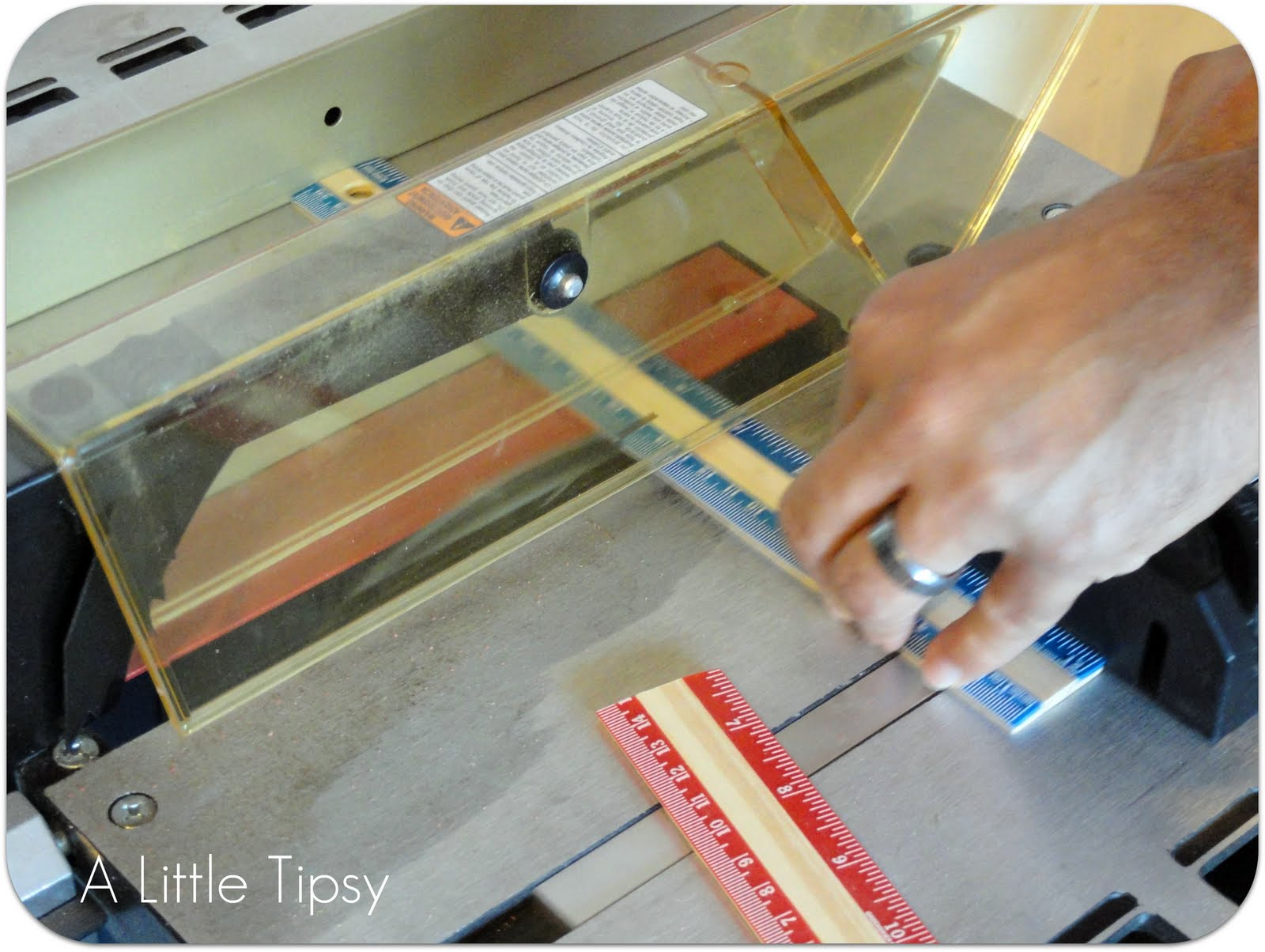 DIY Under $5 {Ruler Frame}A Little Tipsy
