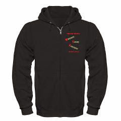 Funny Military Texting Men's Zip Hoodie (dark)