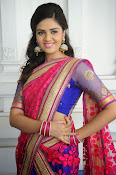 Sri Mukhi Gorgeous Half saree Photos-thumbnail-17