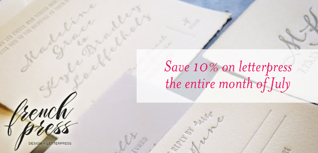 letterpress sale
