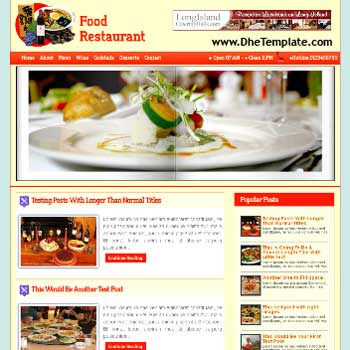 Restaurant Mag blogger template.