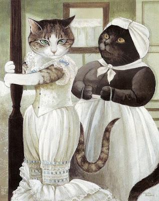 ¿Quién quiere jugar al gatarte? - Página 2 Susan+Herbert+_+gatos+na+arte+_+cats+in+art+(4)