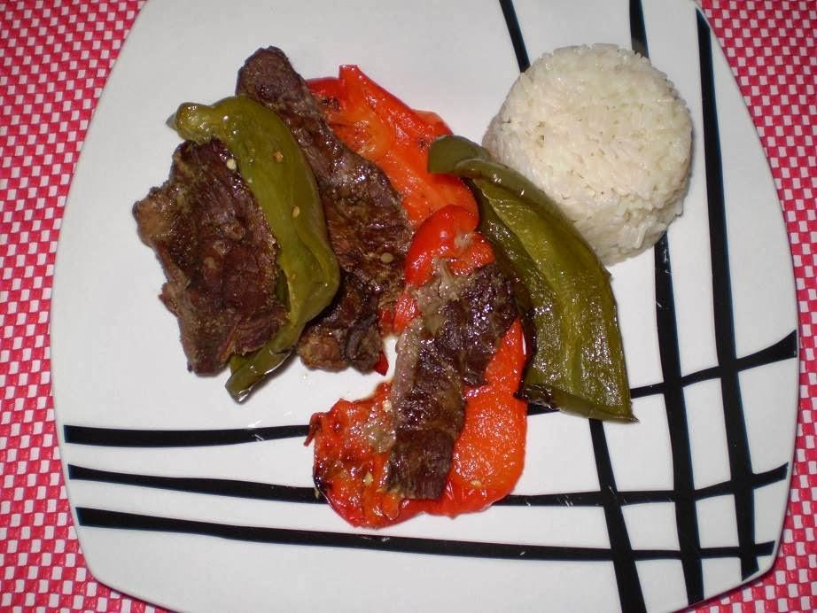 Receita de carne assada com pimentão