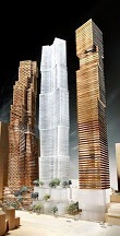 David Mirvish & Frank Gehry: King Street West proposed towers.