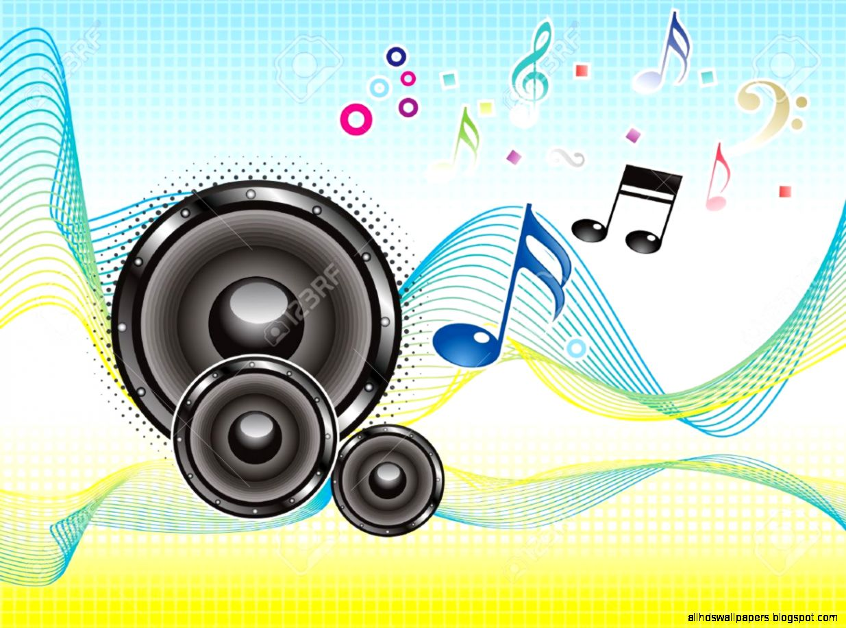 Abstract Colorful Music Sound Wave Wallpaper Vector Illustration