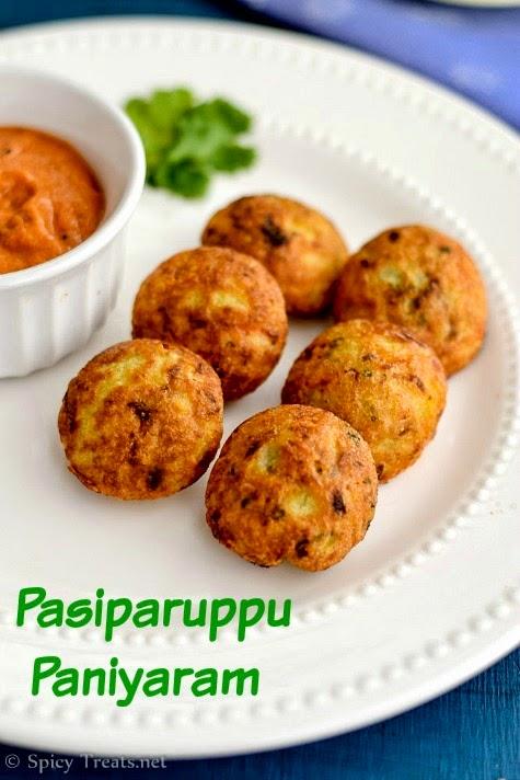 Pasiparuppu Paniyaram Recipe