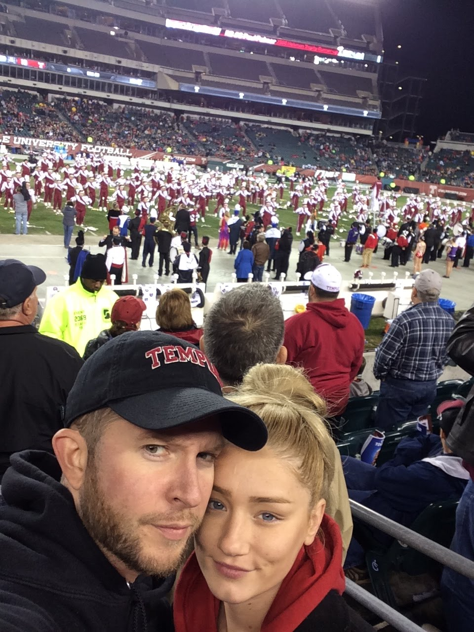 Matt and Kristina at the UConn game.