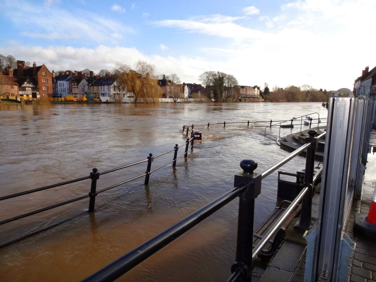 The floods in Bewdley