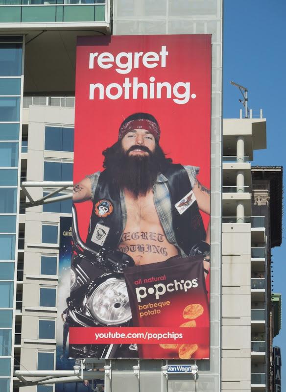 Popchips regret nothing Ashton Kutcher billboard