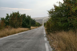 A long and straight Roman Road on the way