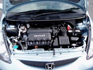 honda jazz engine number location