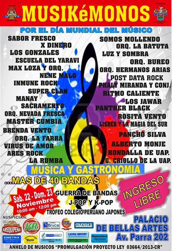 Musikémonos, por el día mundial del músico - 22 y 23 de noviembre