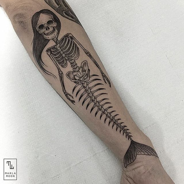 08-Skeleton-Mermaid-Marla-Moon-Geometric-Shapes-with-Tattoo-Drawings-www-designstack-co