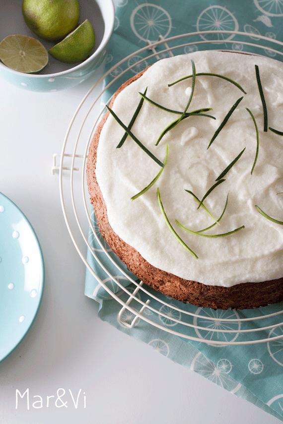 preparar una tarta de calabacín y lima paso a paso