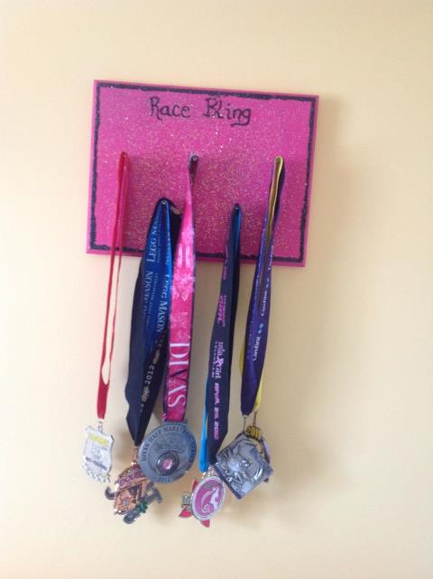 Pink Running Shoes How To Make Your Own Medal Display