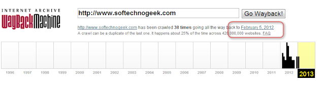 Find Snapshot Of Any Webpage At Regular Time Periods Using WayBackMachine