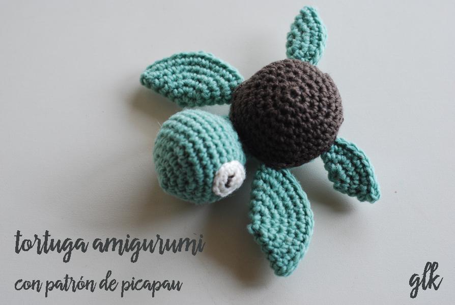 tortuga amigurumi patrón picapau