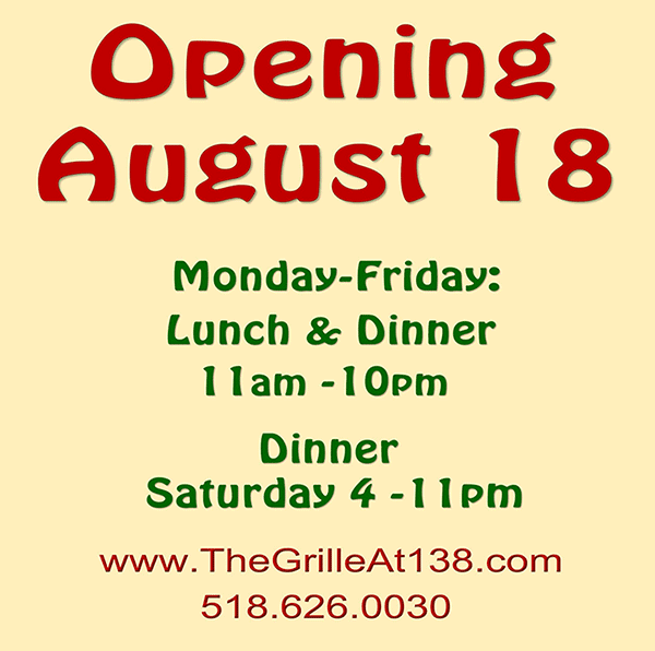Opening August 18th