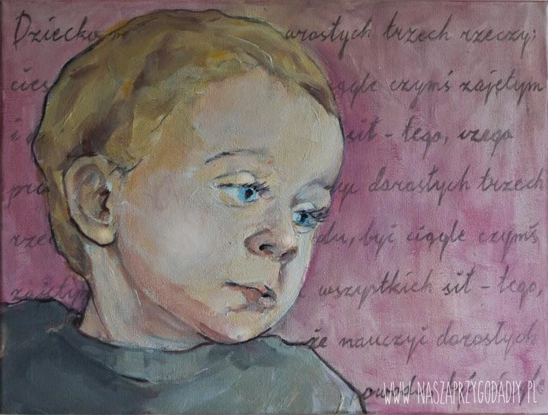 child portrait, acrylic paint, Joanna Pabel-G