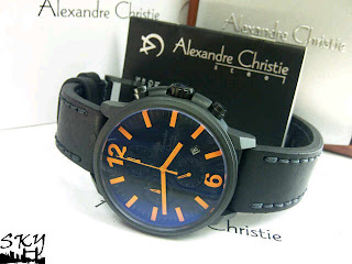JAM TANGAN ALEXANDER CHRISTIE 6267 BLACK ORANGE