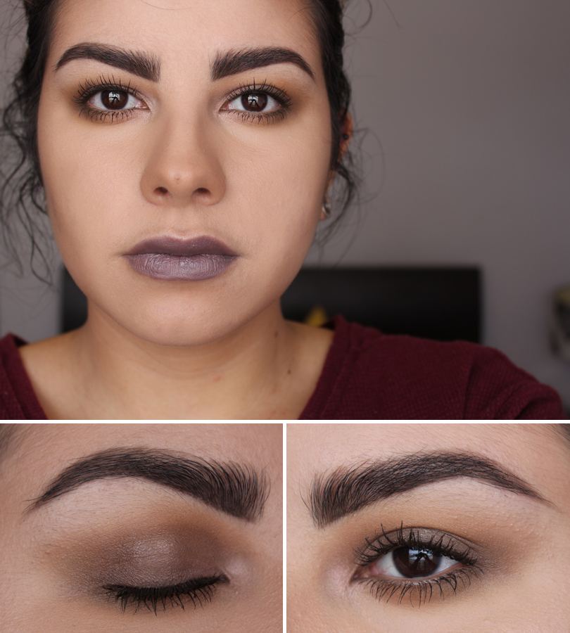 grey cool toned camel makeup look mac uninterrupted satin taupe eyeshadow makeup look tom ford lips boys lipstick stavros