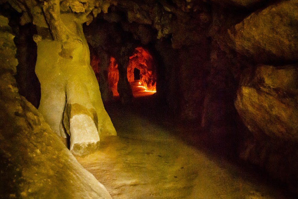 Underground cave Quinta da Regaleira Sintra Portugal