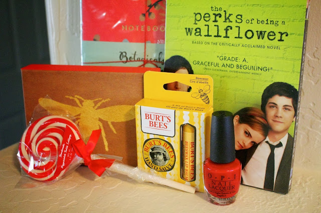 giveaway, contest, promotion, Sincerely Cam, The Perks of Being a Wallflower DVD, Burts Bees lipbalm, win prizes, peppermint lollipop, candy lolly, stationery, notepads, be a winner