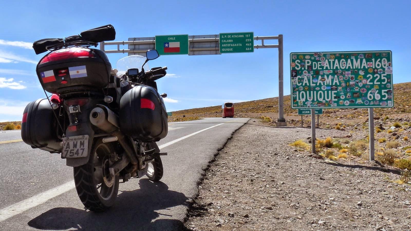 De moto no Atacama - Paso Jama - 2015
