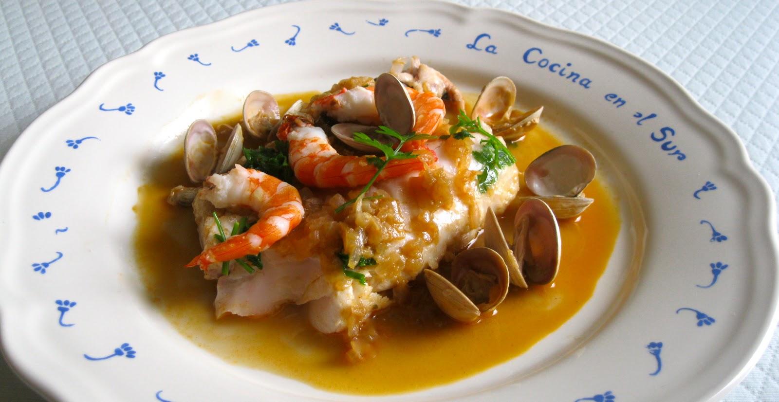 La cocina en el sur merluza en salsa marinera for Hacer salsa marinera