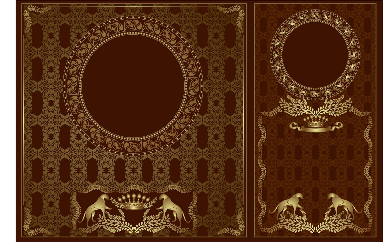 豪華な紋章をデザインした背景 european heraldry vector イラスト素材